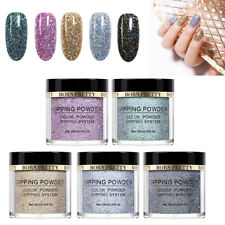 5Colors/Set 10ml BORN PRETTY Nail Dipping Holographic Glitter Powder Natural Dry