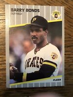 1989 Fleer #202 Barry Bonds PIRATES Nice