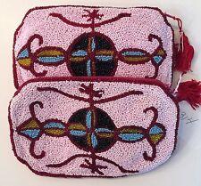 Clutch Purse Handbag HAND BEADED ABSTRACT ART by Jean Baptiste Jean Joseph NWT