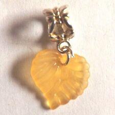 pendentif argenté feuille orange 15x15 mm