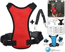 Pet Dog Car Seat Belt Safety Chiot Breathable Air Double Mesh Lead - Red Medium