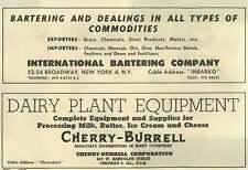 1953 Cherry Burrell Corporation Dairy Plant Equipment Rental Street Chicago Ad