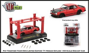 Build Your Own '71 Nissan Skyline GT-R M2 1:64th Diecast Car Lift Included