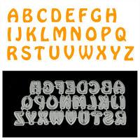 26Pcs Capital Letters Metal Cutting Dies For DIY Scrapbooking Album Paper Car PD