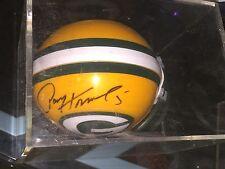 Paul Hornung Green Bay Packers Hofer Hand Signed Mini Helmet In A Case w/COA