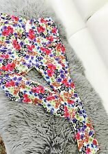 PETER ALEXANDER WOMENS PANTS PYGAMA FLORAL PRINT COTTON BLEND SZ XS
