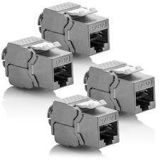 deleyCON 4x CAT 6a Keystone Jack Modul RJ45 STP werkzeuglos Netzwerk LAN Adapter