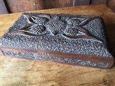 Vintage Carved Wooden Trinket Box Dresser Very Detailed