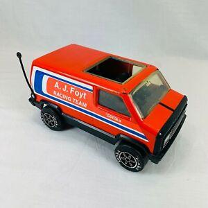 "Vintage A. J. Foyt Nascar Racing Team Tonka Truck Van - USA Made - 9"""