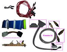 14pcs used mint internal computer cables (firewire, ribbon, SATA, USB, Molex)