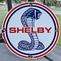 VINTAGE FORD SHELBY PORCELAIN SIGN GT AUTO GAS SERVICE DEALERSHIP MUSTANG F-150