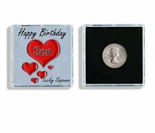Happy Birthday Son Lucky Sixpence Keepsake In Display Case Birthday Gift W98