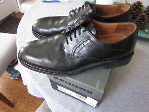 JOHNSTON & MURPHY 11.5 MENS SHOES (model:Mayes; color black) MINT COND
