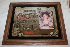 Vintage Advertising Reproduction Framed Coca-Cola 5 Cents Mirror 20 x 23.5