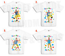 Mr Tumble Personalised Boys, Girls White T Shirt cbeebies 0-3mths to 14-15yrs