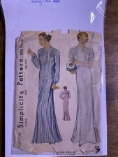 1930s Vintage Sewing Pattern Nra Simplicty 1505 Sz 36/38