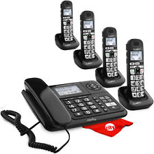 Clarity E814Cc with three D703Hs Dect 6.0 Amplified Handset Bundle