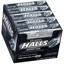 HALLS Intense Cool Cough Drops, (Menthol, 9 Drops, 20-Pack)