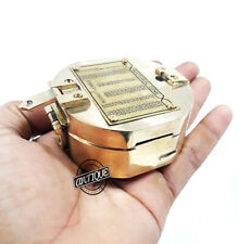 Solid Handmade Working Brunton Compass Navigation Military With Free Key-Chain 1