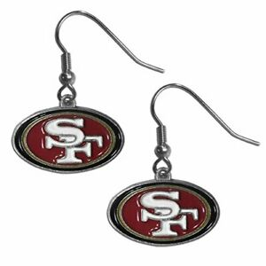 San Francisco 49ers NFL Football Dangle Drop Logo Earrings Free Shipping