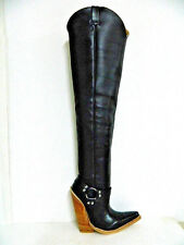 new 32¨ tall cowboy boots 7¨ high heels harness sharp toe in stock men size #10