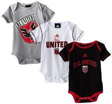 *3 PACK!* (Adidas) Baby Infant Toddler MLS Team Color Bodysuit Jumper Outfit Set
