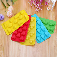 1 Pc Baking Ice Cube Tray Mold Fruit Duck Heart Bear Cake Mould Kitchen Tools