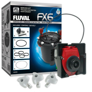 Fluval FX5 FX6 Service Kit Spares Impeller Motor Head Sealing Rings Clamps Fish