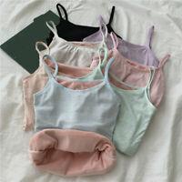Womens Warm Winter Camisole Thermal Underwear Slim Fleece Lined Base Shirts Tops