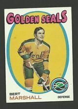 Bert Marshall California Golden Seals 1971-72 Topps Hockey Card #73 NM