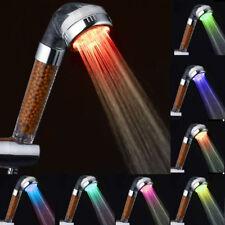LED Duschkopf Handbrause Wasserspar Brause Duschbrause Brausekopf mit Licht Neu