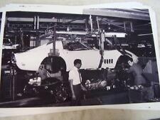 1969  CHEVROLET CORVETTE ASSEMBLY LINE  BODY DROP ?  11 X 17  PHOTO /  PICTURE