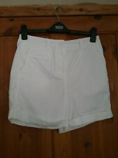 M & S Ladies White Cotton Chino Shorts size 8 New