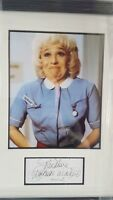 barbara windsor carry on genuine hand signed 18x13 inch professionally framed