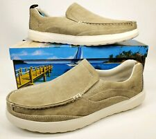 Margaritaville Men Tan Slip On Lightweight Canvas Shoes, Size 10 Cruising Shoes