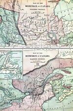 Antique Map of CANADA British Columbia Newfoundland Hudson Bay Quebec 1883 Matte