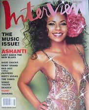 ASHANTI August 2002 INTERVIEW Magazine SHAKIRA  THE VINES  RED HOT CHILI PEPPERS