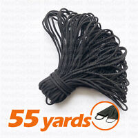 55yard 1/8inch Black Round Elastic Band Cord Ear Hanging Sewing For Face Mask