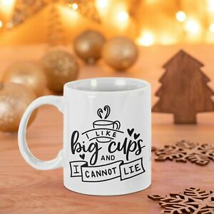 I LIKE BIG CUPS AND I CANNOT LIE PRINTED MUG COASTER FREE P&P CHRISTMAS