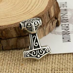 Small Viking Thors Hammer Necklace Stainless Steel Mens Jewellery