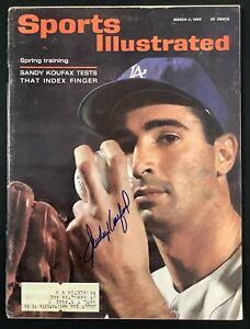 Sandy Koufax Signed Sports Illustrated 3/4/63 LA Dodgers HOF Autograph OA Cert