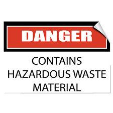 Danger Contains Hazardous Waste Material Hazard LABEL DECAL STICKER