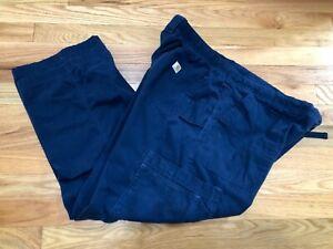 Men's Carhartt Ripstop Multi-Cargo Scrub Pants   NAVY Blue C54108 Size XL Reg