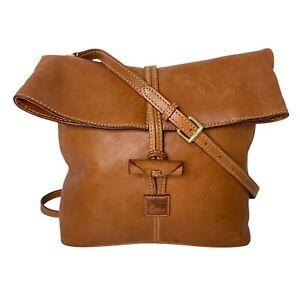 Dooney & Bourke Florentine Leather Medium Toggle Crossbody Fold Over Bag