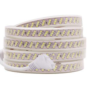 High bright Waterproof 2835 LED Strip 220V 240V Flexible tape rope Light EU Plug