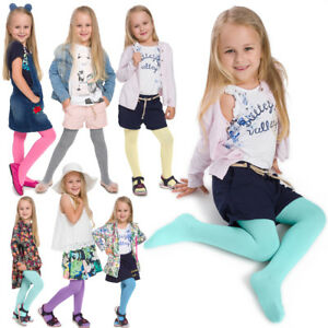 Girls Colourful Soft Cotton Tights Comfy Seamless Kids Pantyhose Age 2-11 T4806B