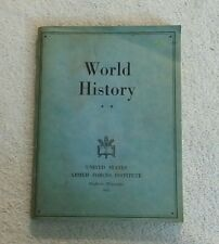1942 WORLD HISTORY UNITED STATES ARMED FORCES INSTITUTE Madison WI WWII Book WW2