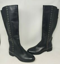 Michael Kors 'Bromley' Flat Boot Black Leather Womens Size 9.5