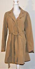 Maurices Coat Jacket Size 2 Plus 20 / 22  Khaki Button Belt Lined Lite Weight