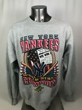 NEW YORK YANKEES VINTAGE 1996 WORLD SERIES STARTER CREW SWEATSHIRT ADULT LARGE